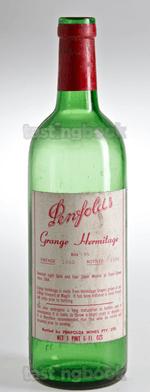 Red wine, Grange Hermitage 1963