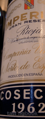 Red wine, Imperial Gran Reserva 1962