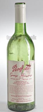 Red wine, Grange Hermitage 1979