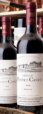 Red wine, Château Pontet Canet 2009