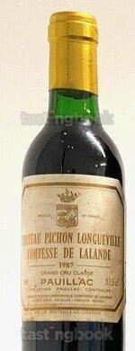 Red wine, Château Pichon Longueville Comtesse de Lalande 1987