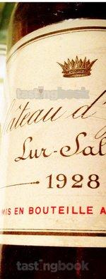 Sweet wine, d'Yquem 1928