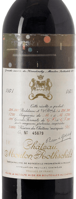 Red wine, Château Mouton-Rothschild 1971