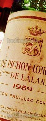 Red wine, Château Pichon Longueville Comtesse de Lalande 1959