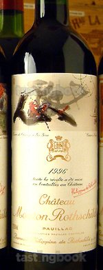 Red wine, Château Mouton-Rothschild 1996