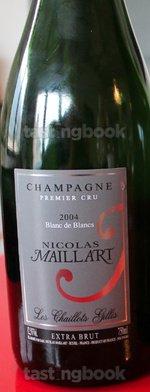 Sparkling wine, Les Chaillots Gillis Blanc de Blancs Extra Brut 2004