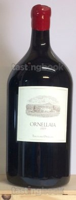 Red wine, Ornellaia 1999