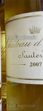 Sweet wine, d'Yquem 2007