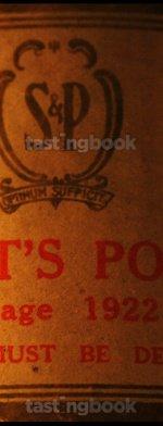Red wine, Vintage Port 1922