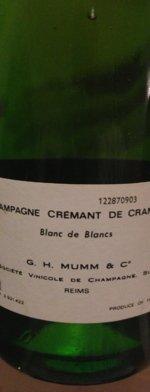 Sparkling wine, Cremant de Cramant NV (80's)
