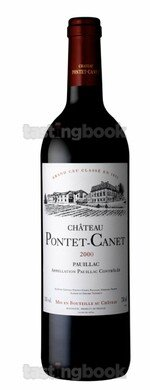 Red wine, Château Pontet Canet 2000