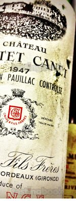 Red wine, Château Pontet Canet 1947
