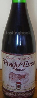 Red wine, Prado Enea 1970