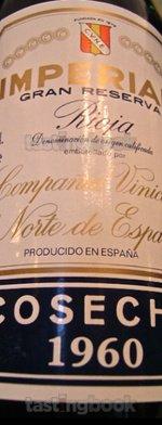 Red wine, Imperial Gran Reserva 1960