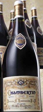 Red wine, Chambertin 1985