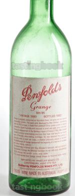 Red wine, Grange Hermitage 1980