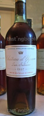 Sweet wine, d'Yquem 1937