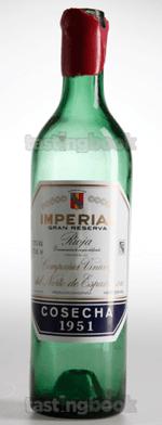 Red wine, Imperial Gran Reserva 1951