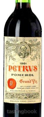 Red wine, Pétrus 1981