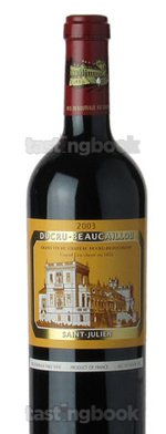 Red wine, Chateau Ducru-Beaucaillou 2003