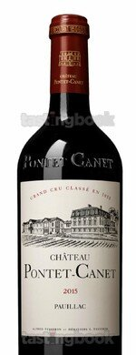 Red wine, Château Pontet Canet 2015