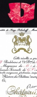 Red wine, Château Mouton-Rothschild 1972
