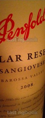 Red wine, Cellar Reserve Sangiovese 2008