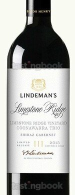 Red wine, Lindemans Trio Limestone Ridge 2018