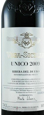 Red wine, Unico 2009