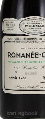 Red wine, Romanée Conti 1966