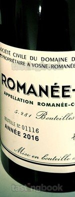 Red wine, Romanée Conti 2016