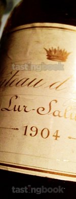 White wine, d'Yquem 1904