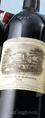 Red wine, Lafite-Rothschild 2000