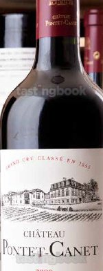Red wine, Château Pontet Canet 2011
