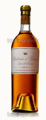 White wine, d'Yquem 1931