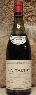 Red wine, La Tâche 1962
