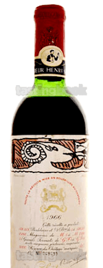 Red wine, Château Mouton-Rothschild 1966