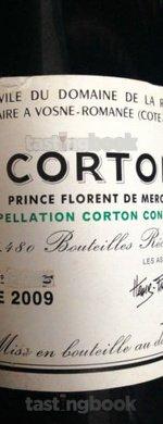 Red wine, Corton Grand Cru 2009