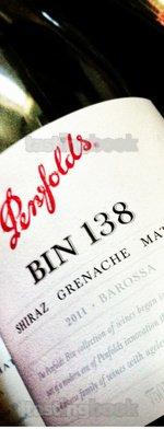 Red wine, Penfolds Bin 138 Grenache Mourvèdre Shiraz 2011