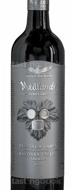 Red wine, Platinum Label Medlands Vineyard Shiraz 2016