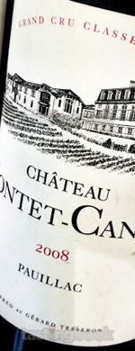 Red wine, Château Pontet Canet 2008