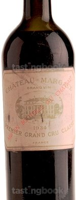 Red wine, Château Margaux 1934