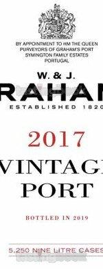 Red wine, Vintage Port 2017