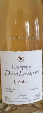 Sparkling wine, Cuvée L'Astre 2010