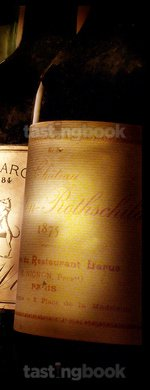 Red wine, Château Mouton-Rothschild 1875