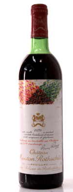 Red wine, Château Mouton-Rothschild 1979