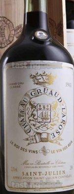 Red wine, Château Gruaud-Larose 1961