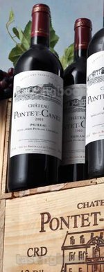 Red wine, Château Pontet Canet 2003