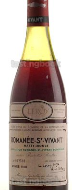 Red wine, Romanee Saint Vivant 1981