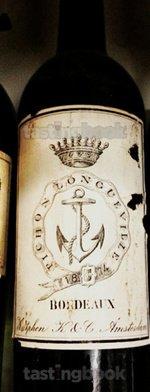 Red wine, Château Pichon Longueville Comtesse de Lalande 1874